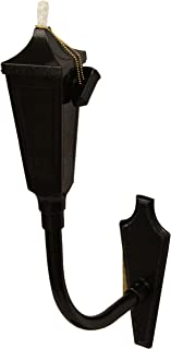 Starlite Garden and Patio ST-GV, Wall Sconce Torche, Die Cast Aluminum, Glossy Black and Gold Vein