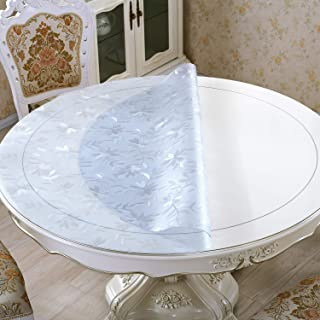 """LovePads 1.7mm Thick 35"""" Round Table Cover, Round Table Protector for Coffee Table, Plastic Tablecloth Cover Circle, Non-S..."""