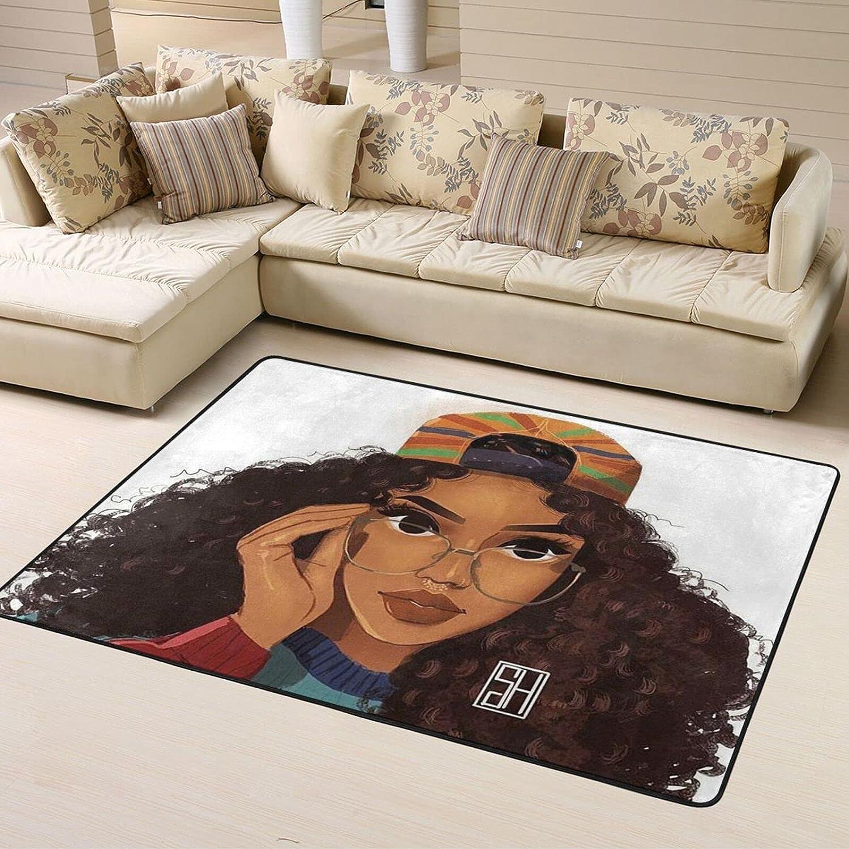 African American Black Girl Soft Ranking TOP3 OFFer Bedroom Rug Area Rugs,Indoor