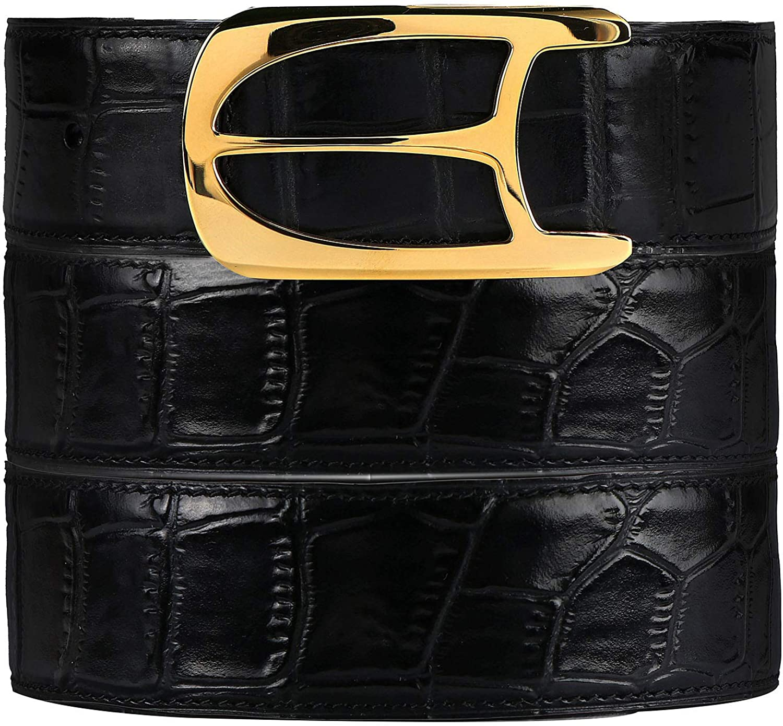 Men's 送料無料 新品 Leather Belt BURRELL Jeans 100% 上品 Alliga