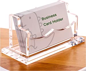 SANRUI Business Card Holder, Desk Card Display Stand Acrylic-Show Your Business-1 Slot Holds About 50 Cards- Clear 1 Pack(1 Cell H)