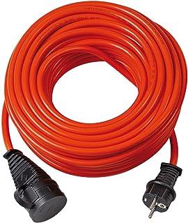 Brennenstuhl BREMAXX Verlängerungskabel 25m Kabel in orange, für den Einsatz im Außenbereich IP44, einsetzbar bis -35°C, öl- und UV-beständig