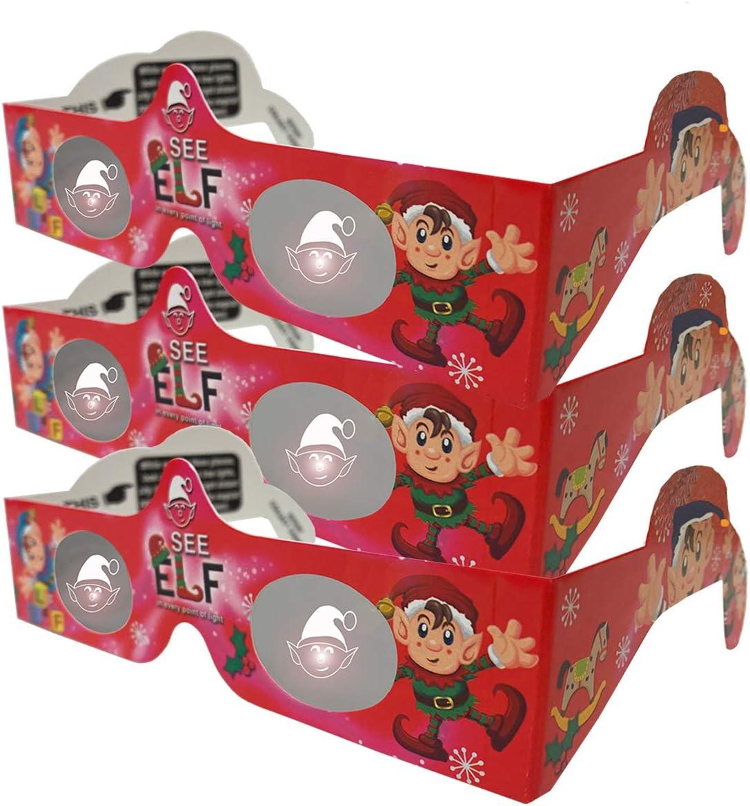 Christmas Glasses 5 ☆ very popular - Holiday Eyes -Elves Tran Pairs Specs Columbus Mall 3
