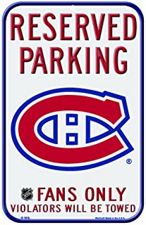 NHL Montreal Canadiens 11-by-17 Inch Locker Room Sign