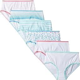 Trimfit - 6-Pack Dots Stripes Cotton Tagless Briefs Underwear (Toddler/Little Kids/Big Kids)