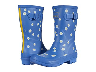 Joules Molly Welly (Blue Daisy) Women