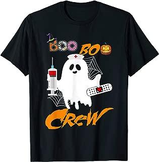 Boo Boo Crew Nurse Ghost Funny Halloween Costume Fun Gift T-Shirt
