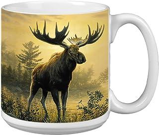 Tree-Free Greetings Extra Large 20-Ounce Ceramic Coffee Mug, Moose Themed Wildlife Art (XM29522)