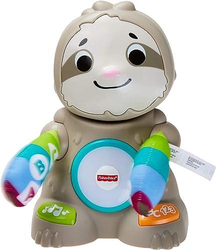 Fisher-Price Linkimals Matthieu le Paresseux, jouet bébé interactif d'apprentissage, sons et lumières, version frança...