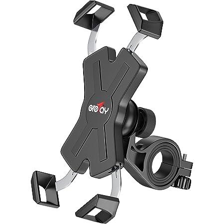 Grefay Fahrrad Handyhalterung, Edelstahl Motorrad Fahrrad Lenker Handy Halterung Mit 360 Drehen für 4,5-6,8 Zoll Smartphone
