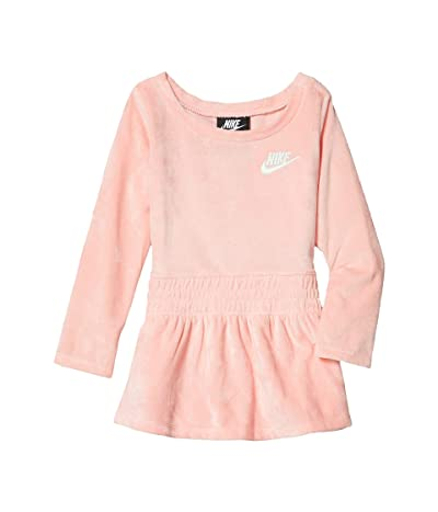 Nike Kids Sportswear Velour Dress (Toddler) (Bleached Coral) Girl