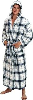 Men's Plush Fleece Robe with Hood, Warm Big and Tall Bathrobe