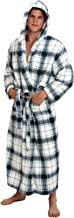 Alexander Del Rossa Men's Plush Fleece Robe with Hood, Warm Big and Tall Bathrobe