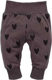 Pantaloni Bimba Bambina Baby Pagliaccetto 100/% Cotone Marrone Rosso con Cuore 56 62 68 74 cm Pinokio Little Bird