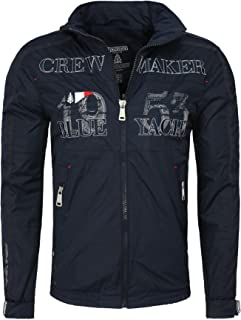 f0e30f402 Geographical Norway Men Hooded Jacket CACAO Details and Embroidery  Wetterfest rain