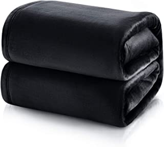 Black Fluffy Bed Throw