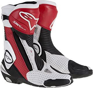 Alpinestars Mens SMX Plus Vented Boot (Black/Red/White, EU 43)