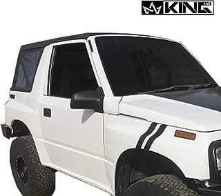 King 4WD Replacement Soft Top - Black Diamond - Tracker 1986-1994 Suzuki Sidekick