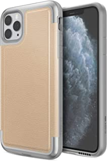 Defense Prime, iPhone 11 Pro Max Case - Military Grade Drop Tested, Anodized Aluminum Frame, Luxurious Back Panel, and Polycarbonate Protective Case for Apple iPhone 11 Pro Max, (Tan)