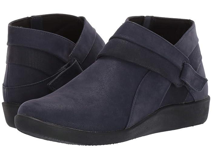 Clarks  Sillian Rani (Navy Synthetic) Womens  Boots