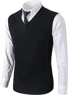 Mens Casual Slim Fit Knit Vest Sweater