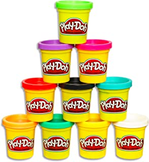 Play-Doh - 10 Pack Case of Colors - 10 x 85g tubs - Assorted colours of Non-Toxic Dough - Kids Sensory Toys - Arts and Cra...