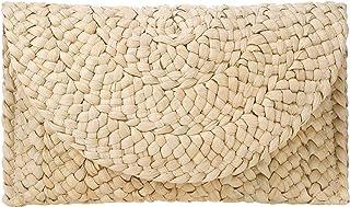 FZChenrry Stroh Clutch Geldbörse für Damen Sommer Strand Stroh Taschen Gewebte Abend Handtasche Briefumschlag