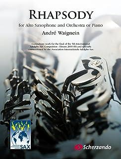 ウェニャン : ラプソディ 狂詩曲 アルトサックスとピアノのための (サックス、ピアノ) スケルツァンド出版