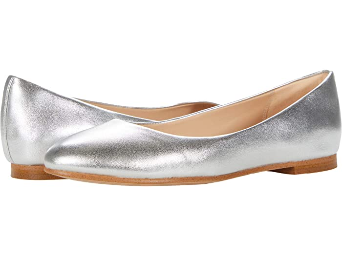 Retro Vintage Flats and Low Heel Shoes Clarks Grace Piper Silver Metallic Womens Shoes $89.00 AT vintagedancer.com