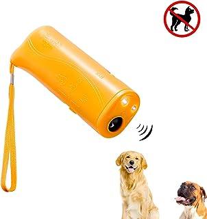 Mein HERZ Dispositivo Anti ladrido, Ahuyentador de Perros por Ultrasonido LED y Entrenador Dispositivo 3 en 1 Dispositivo de Entrenamiento de Perro Portátil para Detener Ladridos