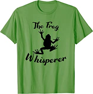 The Frog Whisperer Funny Frog Animals Toad Lover Gift T-Shirt