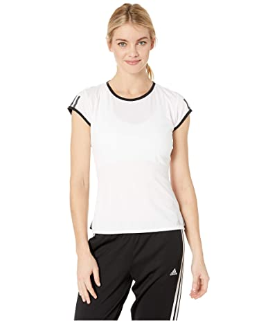 adidas Club 3-Stripes Tee (White) Women