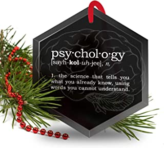 Psychology Definition Funny Glass Christmas Ornament