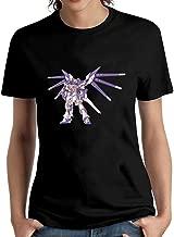 HUIPINGNI Women's Battle Ready Rx-93 The Gundam T-Shirt Short Sleeve
