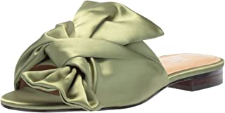 Amazon Brand - The Fix Women's Naomi Oversized Bow Slide Sandal Flat
