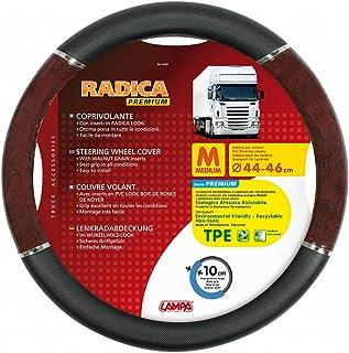 Lampa LkW Lenkradschoner Radica Premium schwarz wurzelholz 44/46 cm