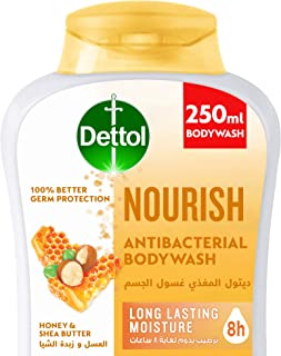Dettol Nourish Shower gel & Bodywash for effective Germ Protection & Personal Hygiene (protects against 100 illness causin...