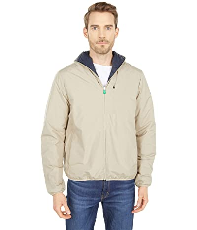 Save the Duck James WIND Reversible Rain Jacket with Hood (Desert Beige/Blue Black) Men