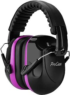 محافظ گوش ProCase Noise Reduction ، هدفون محافظ شنوایی NRR 28dB Shooters ، محافظ گوش لغو کننده صدای حرفه ای برای کارهای ساختمانی شکار محدوده شلیک-بنفش