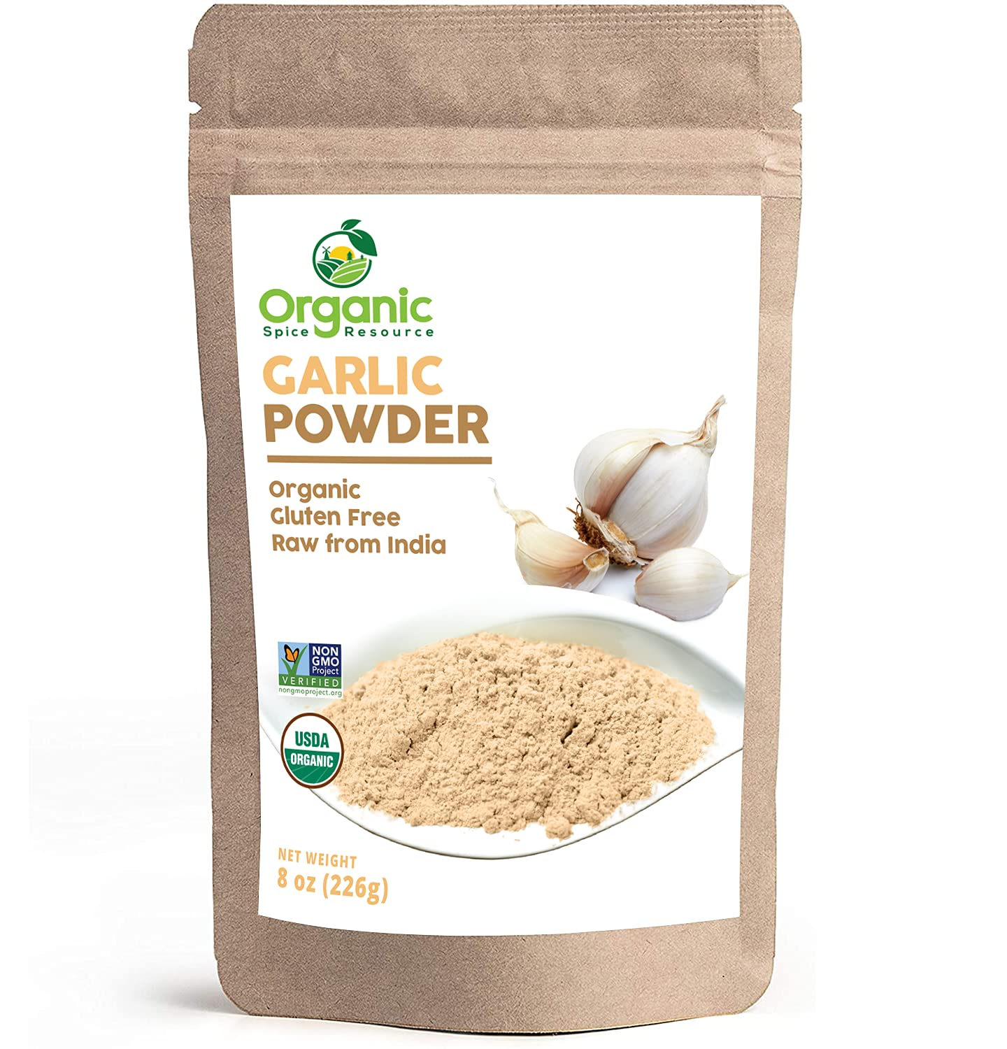 Organic Garlic Genuine Free Shipping Powder 8 oz or of 226g India Reseal Product Popular products
