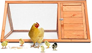 Magshion Wooden Chicken Coop Rabbit Hutch Pet Cage Wood Small Animal Poultry Cage Run
