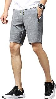 CLOUSPO Men Gym Sweat Shorts Sports Joggers Casual Running Shorts with 2 Zipped Pocket Workout Training Shorts