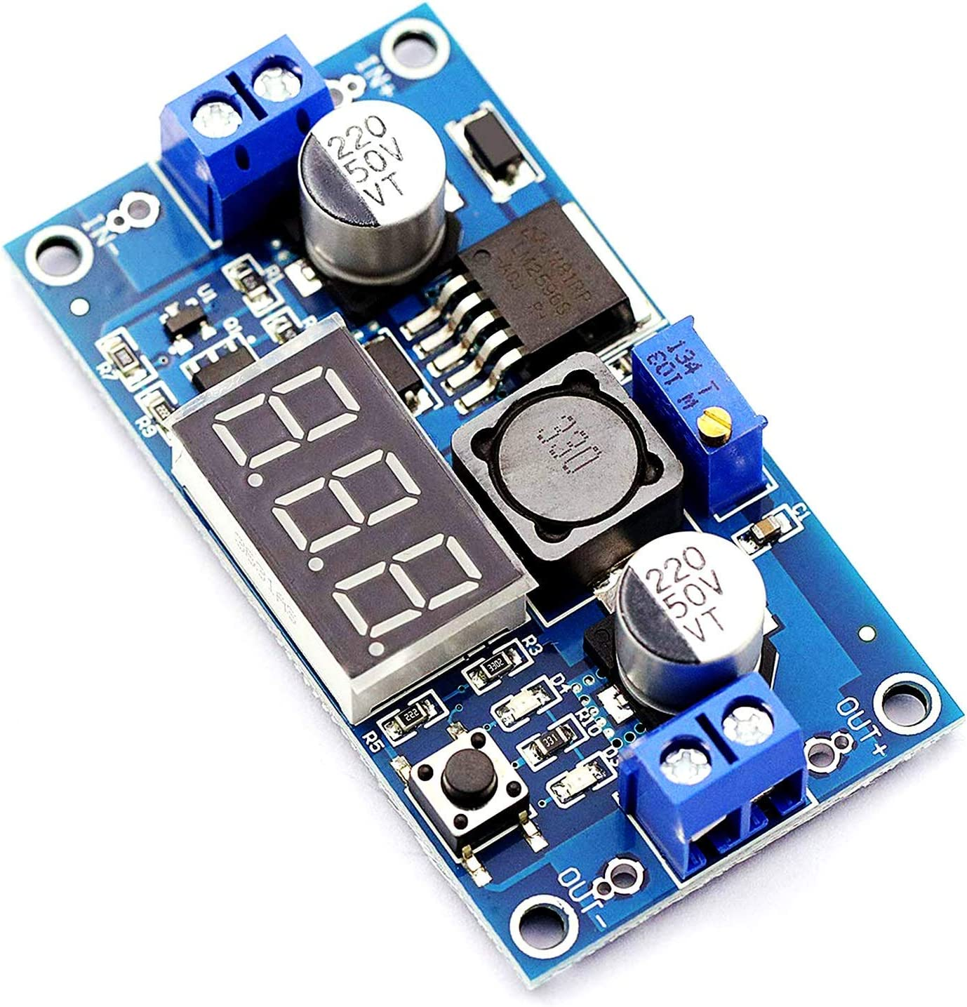 LIMEI-ZEN LM2596 DC-DC Adjustable Buck Module With Digital Voltmeter Display LM2596S Regulated Power Supply Converter Module 4.0~40V To 1.25~37V Power Transformer With LED Display Spot Steuermodul Pow