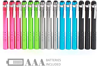 SEAMAGIC 15-Pack LED Penlight - Pocket Pen Flashlight with Clip, 30-Piece Dry Batteries Included