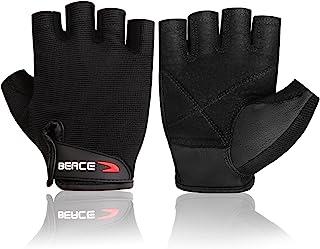 BEACE 筋トレ ウエイトリフティング トレーニング グローブ ベンチプレス ジム用 皮革 滑り止め マジックテープ付き 男女兼用