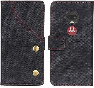 Moto G7 Plus ケース Motorola G 7 対応 手帳型 カバー モトローラG7 プラス 対応 G7ケース Motog7 G7plus 7G スマホ 人気 携帯 手帳 耐衝撃 PU レザー 高級 保護 G7/G7plus (6.2 インチ) (ブラック)