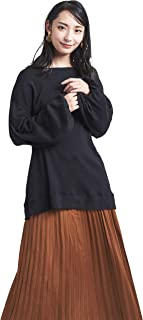 [ライズオンフリーク] レディース シンプル ペザントスリーブ トレーナー カットソー トップス クルーネック 秋冬 FT1901