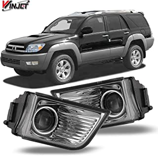 Winjet WJ30-0203-09 OEM Series for [2003-2005 Toyota 4Runner] Clear Lens Driving Projector Fog Lights