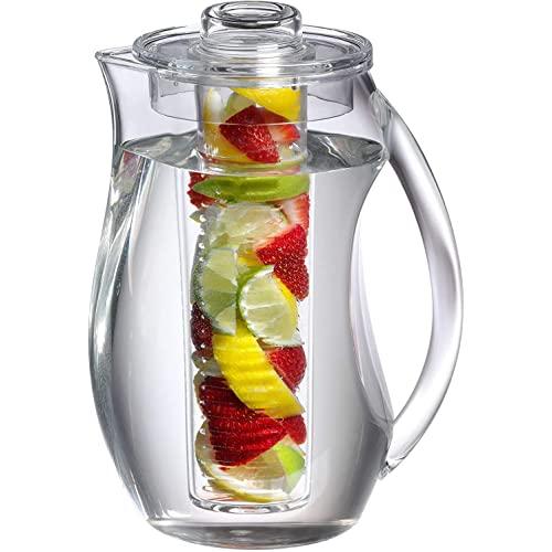 Prodyne Fruit Infusion Flavor Pitcher, 2.9 qt clear, 93 oz