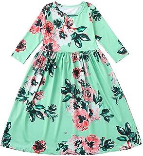 ワンピース 女の子 赤ちゃん服 プリンセスドレス 七分袖 ロッグ 花柄 おしゃれ 可愛い お出かけ 通園 お宮参り 旅行 記念撮影用 娘の日 誕生日 プレゼント